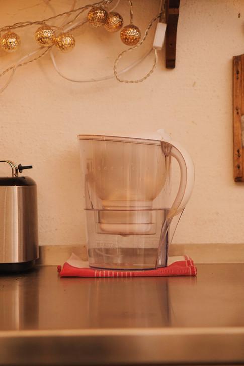 gefiltertes Leitungswasser