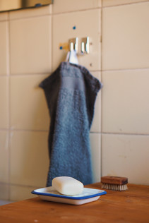 Stückseife statt flüssig / Handtuch statt Papiertuch