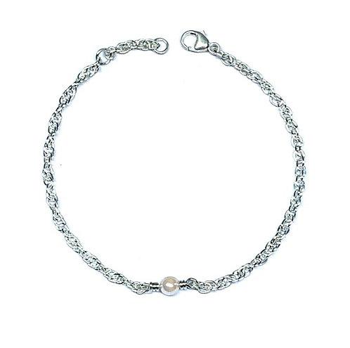 Silber Armband mit Süsswasserperle