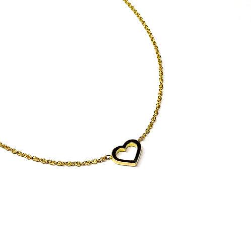 Herzkette aus Gelbgold