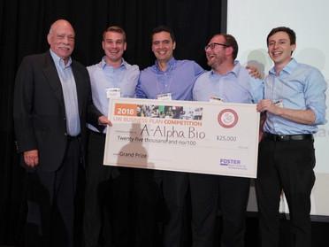 A-Alpha Bio wins the University of Washington Business Plan Competition
