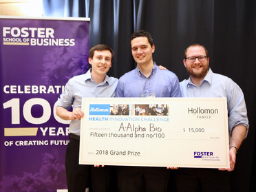 A-Alpha Bio wins the 2018 UW Hollomon Health Innovation Challenge!