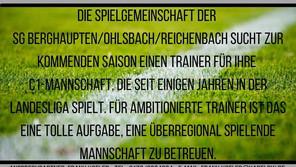 Trainer für C-Junioren Landesliga gesucht!