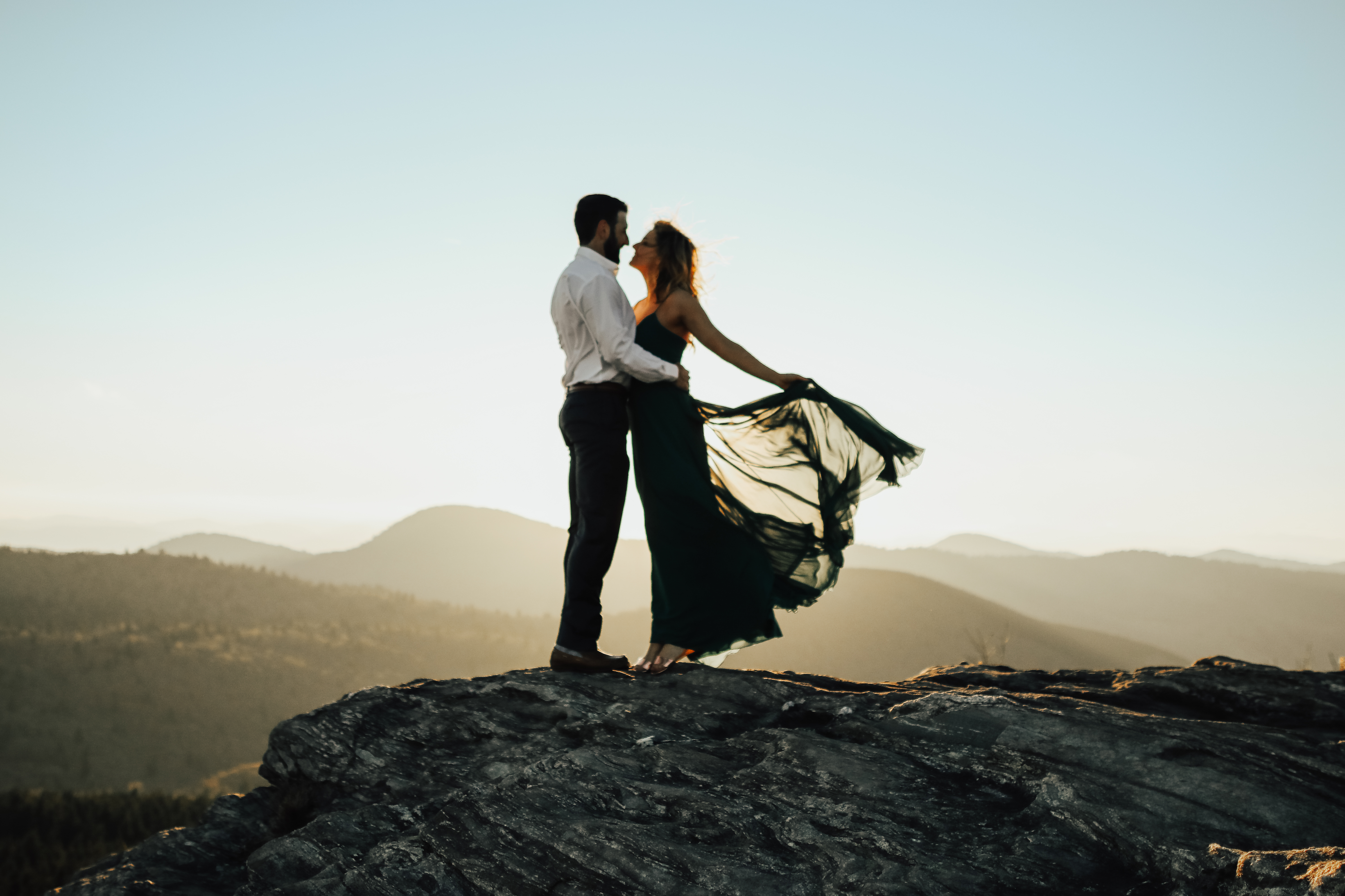 black balsam knob engagement photo