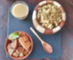 latin dominican mofongo plantain wit pork belly chicharrones