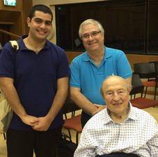 Yuval with his teacher Prof. Asaf Zohar, and the great pianist Menahem Pressler