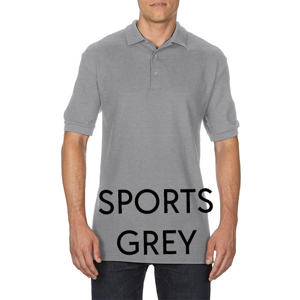 Sports Grey Printed Polo Shirts