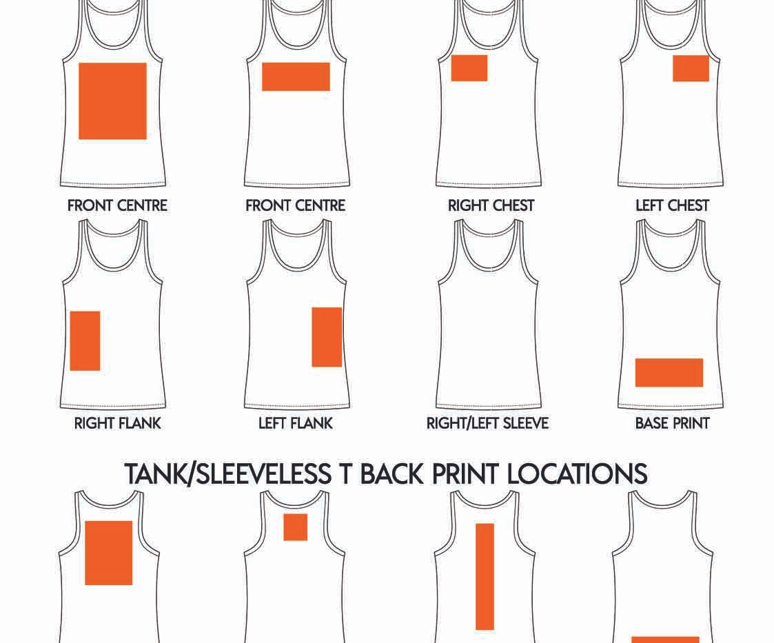 Where to print on an AS Colour Tank Top