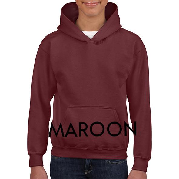 Maroon Youth Hoodies