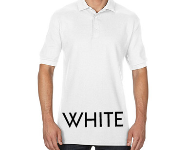 WHITE Custom Printed Polo Shirts
