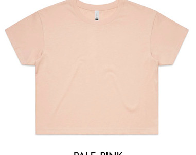 Pale Pink - AS Colour Crop Tee