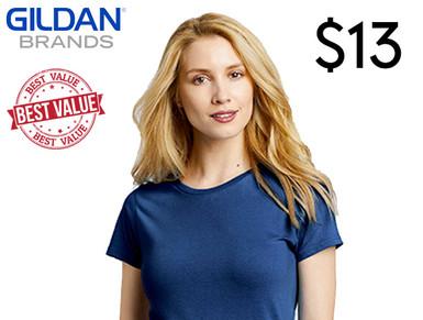 Custom Printed Ladies Cut T-shirts