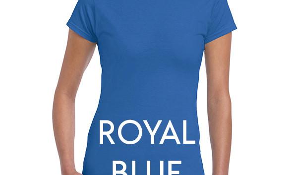 Royal Blue 64000L Ladies Tee