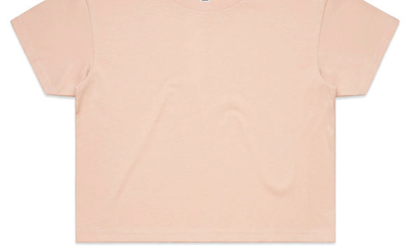 Pale Pink - Printed AS Colour Women's Crop Tee