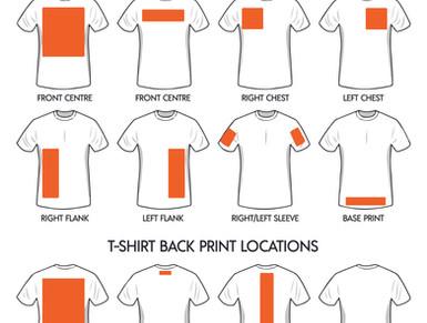 Custom Print Locations on Ladies Tees