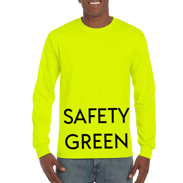 Safety Green Printed Longsleeve T-shirts