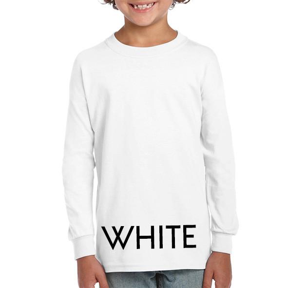 White Youth Longsleeve Tees