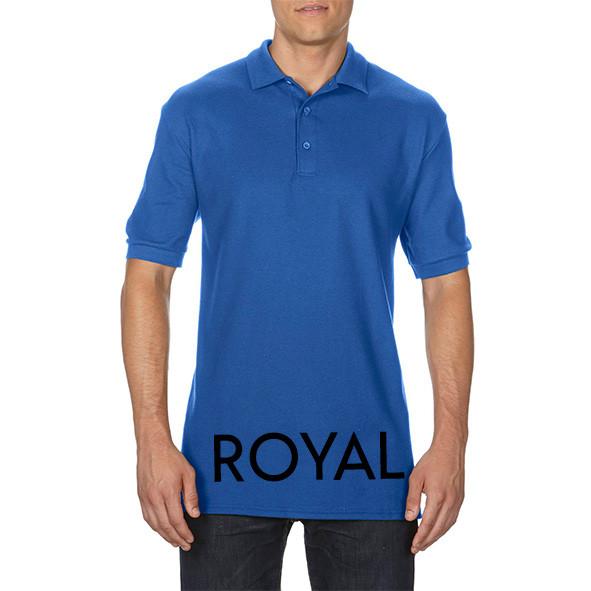 Royal Blue Printed Polo Shirts