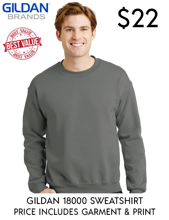 Gildan 18000 Custom Printed Sweatshirts