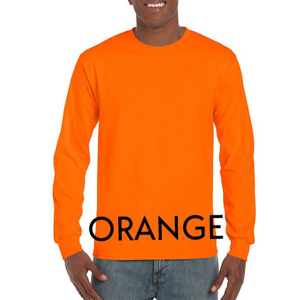 Orange Printed Longsleeve T-shirts