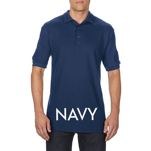 Navy Printed Polo Shirts