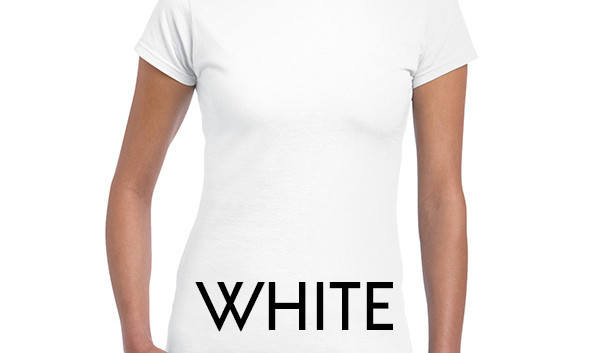 WHITE 64000L Ladies Tee