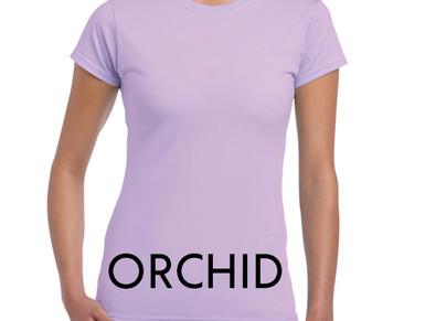 Orchid Custom Printed Ladies Cut T-shirts