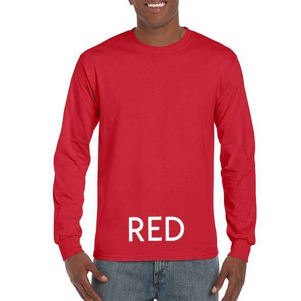 Red Printed Longsleeve T-shirts