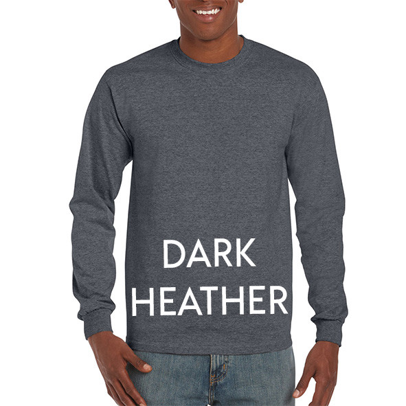 Dark Heather Printed Longsleeve T-shirts