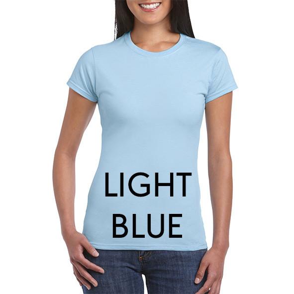 LIGHT BLUE 64000L Ladies Tee