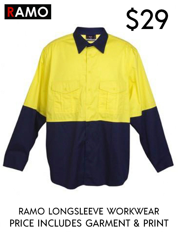 Workwear 100% Combed Cotton Drill Long Sleeve Shirts
