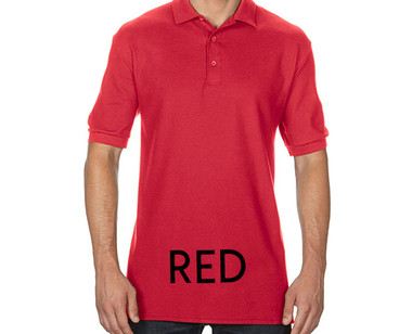 RED Custom Printed Polo Shirts