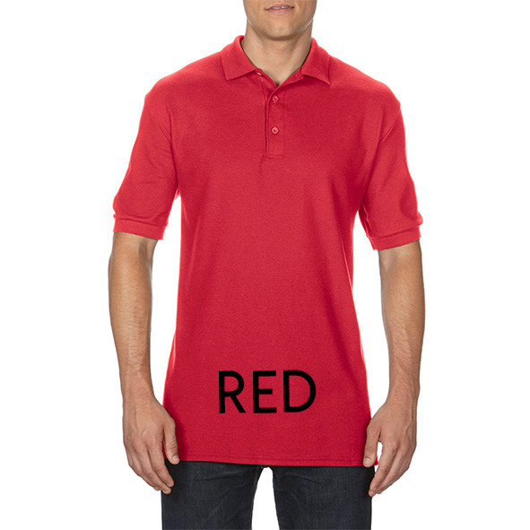 Red Printed Polo Shirts
