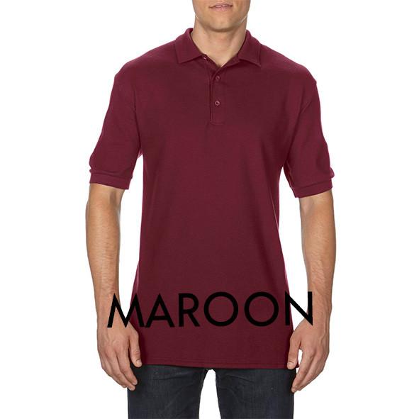 Maroon Printed Polo Shirts