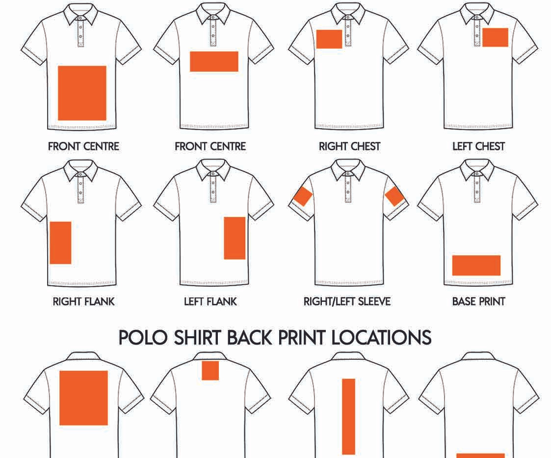 Where to print on a RAMO Youth Polo shirts