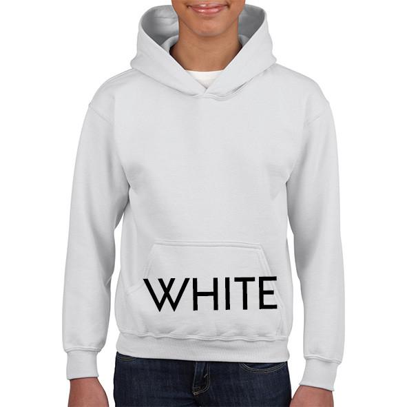 WHITE Youth Hoodies