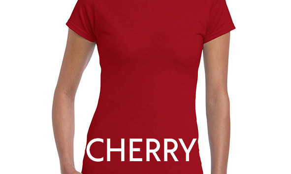 CHERRY RED 64000L Ladies Tee