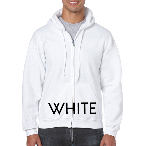WHITE Zipup Hoodies