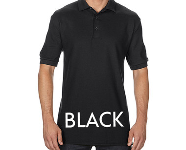 BLACK Custom Printed Polo Shirts