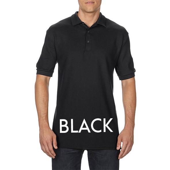 Black Printed Polo Shirts