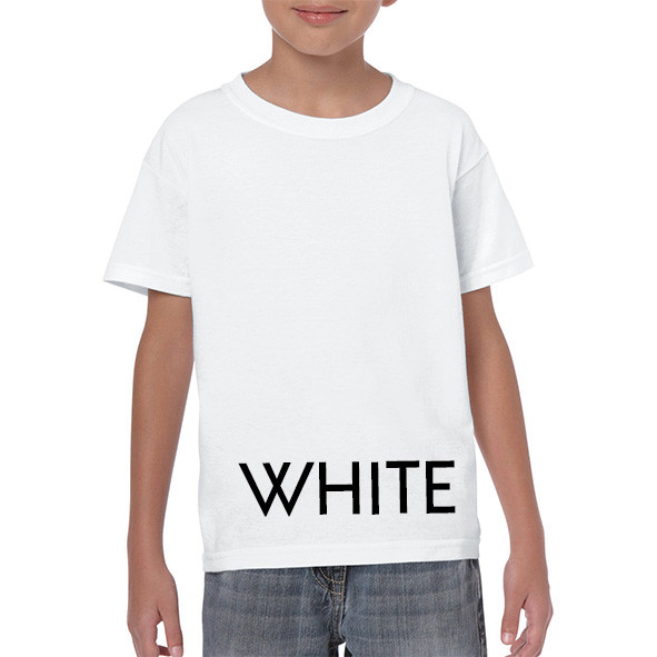 WHITE Youth T-shirts