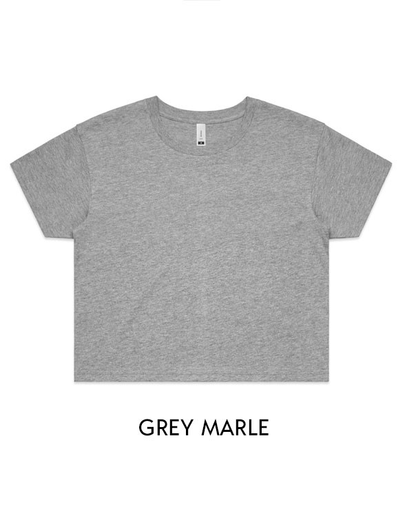 Grey Marle - Printed AS Colour Women's Crop Tee