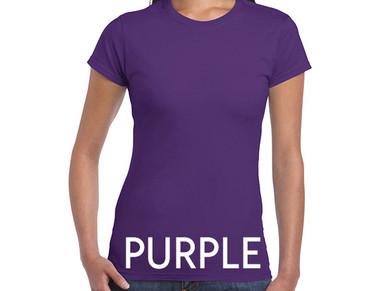 PURPLE Custom Printed Ladies Cut T-shirts