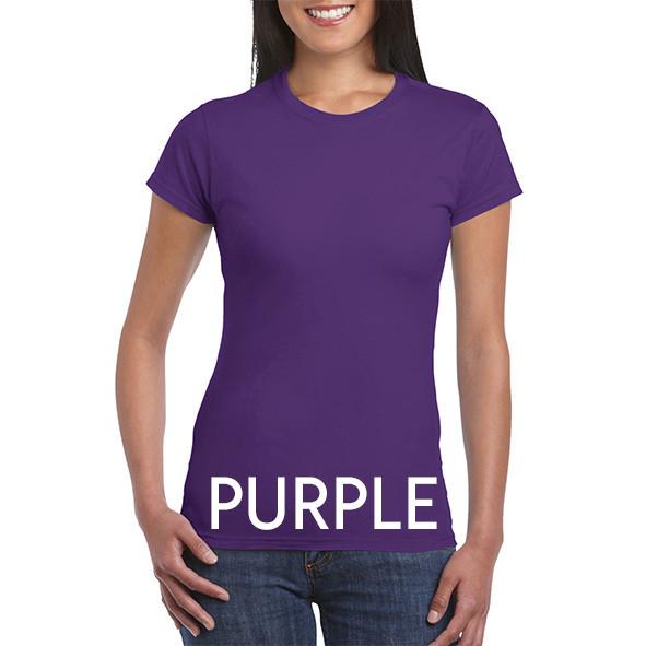 Purple 64000L Ladies Tee