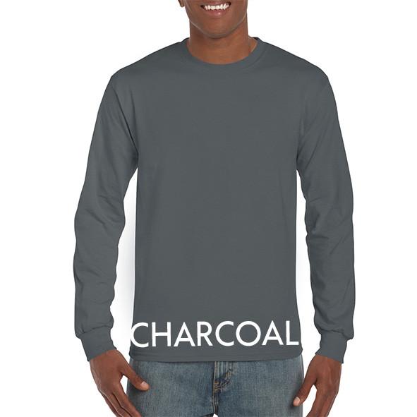 Charcoal Printed Longsleeve T-shirts