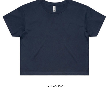 Navy - AS Colour Crop Tee