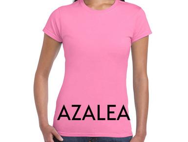 AZALEA Custom Printed Ladies Cut T-shirts