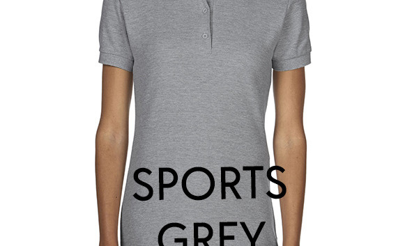 SPORTS_GREY Ladies Polo Shirts