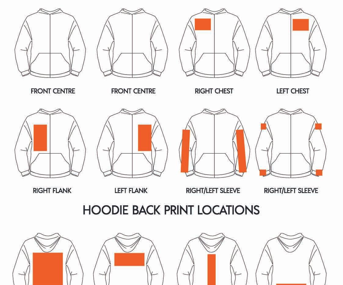 Where to print on a RAMO Ladies Zipup Hoodie