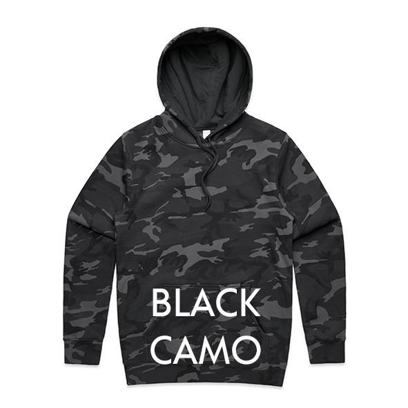 BLACK Camou Hoodies